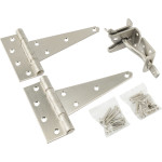 Hardware Essentials Stainless Steel Heavy Duty Gate Hardware Kit