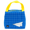Grid Lock Purse Style Insulated Reusable Lunch Bag, Planes slideshow image 2