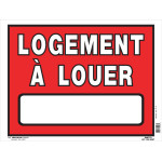 """French Apartment For Rent Sign (12"""" x 16"""")"""