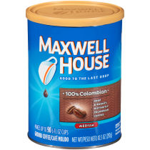 Maxwell House 100% Columbian Ground Coffee 10.5 oz Can
