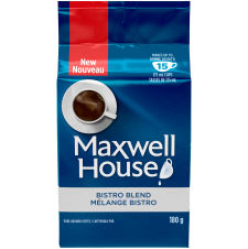 Maxwell House Bistro Blend Coffee Brick, 180g