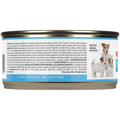 Royal Canin Size Health Nutrition Starter Mother and Babydog Canned Dog Food