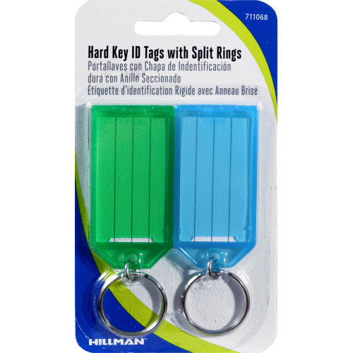 Hard ID Tag with Ring 2 Pack
