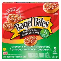 Pizzas collations Bagel Bites Fromage, saucisse et pepperoni