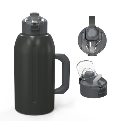 Genesis 64 ounce Vacuum Insulated Stainless Steel Tumbler, Charcoal