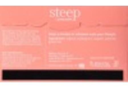 Back of steep by bigelow organic oolong and jasmine green tea box