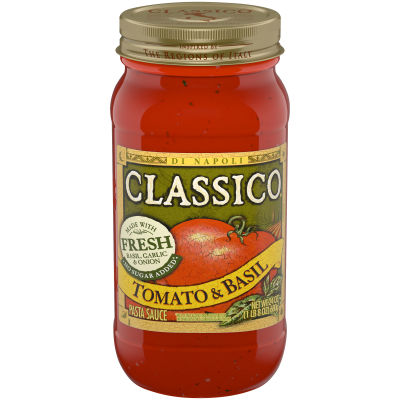 Classico Tomato and Basil Pasta Sauce 24 oz Jar