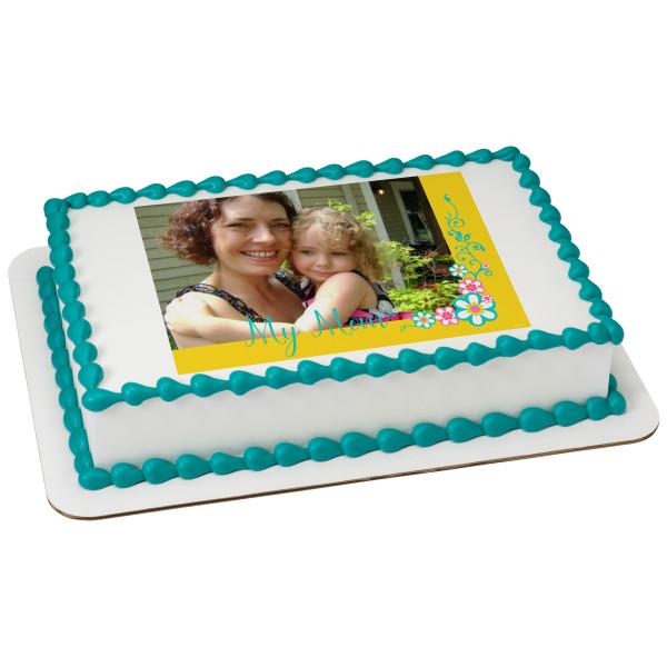 My Mom Floral PhotoCake® Edible Image® Frame