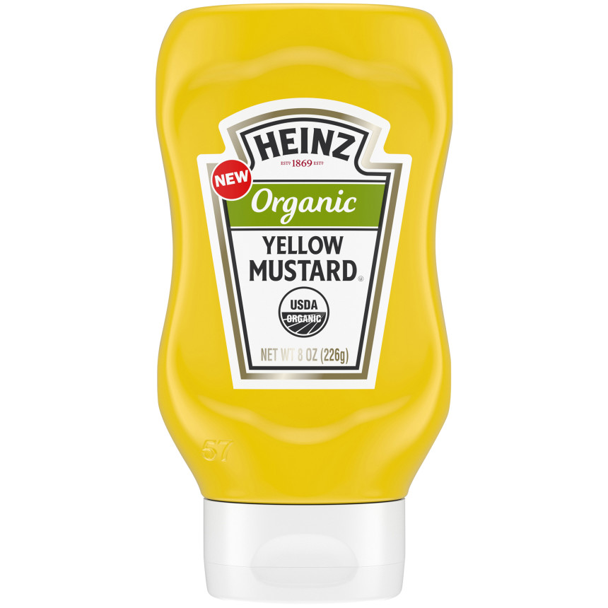 Heinz Organic Yellow Mustard, 8 oz Bottle