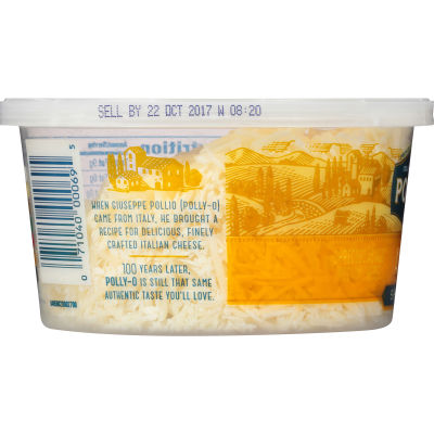 Polly-O Shredded Asiago 5 oz Tub