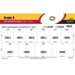 """Grade 8 SAE Thick Hardened Flat Washers Assortment (1/4"""" thru 1"""")"""