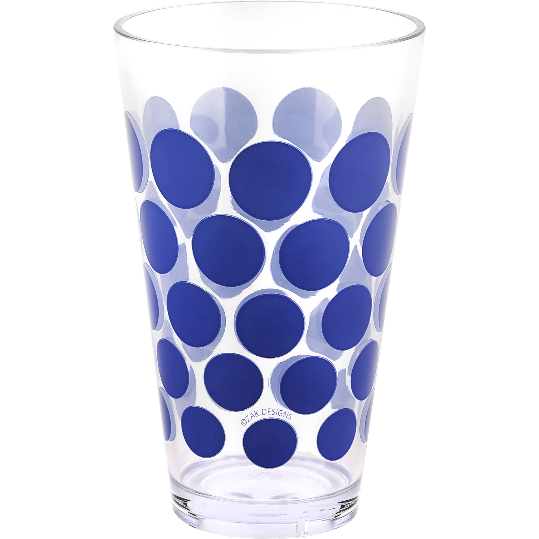 Dot Dot 20 ounce Highball Glass, Blue, 6-piece set slideshow image 10