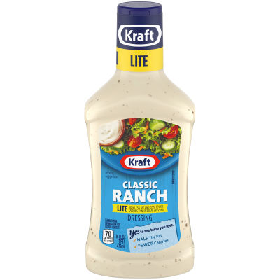 Kraft Classic Ranch Lite Dressing 16 fl oz Bottle