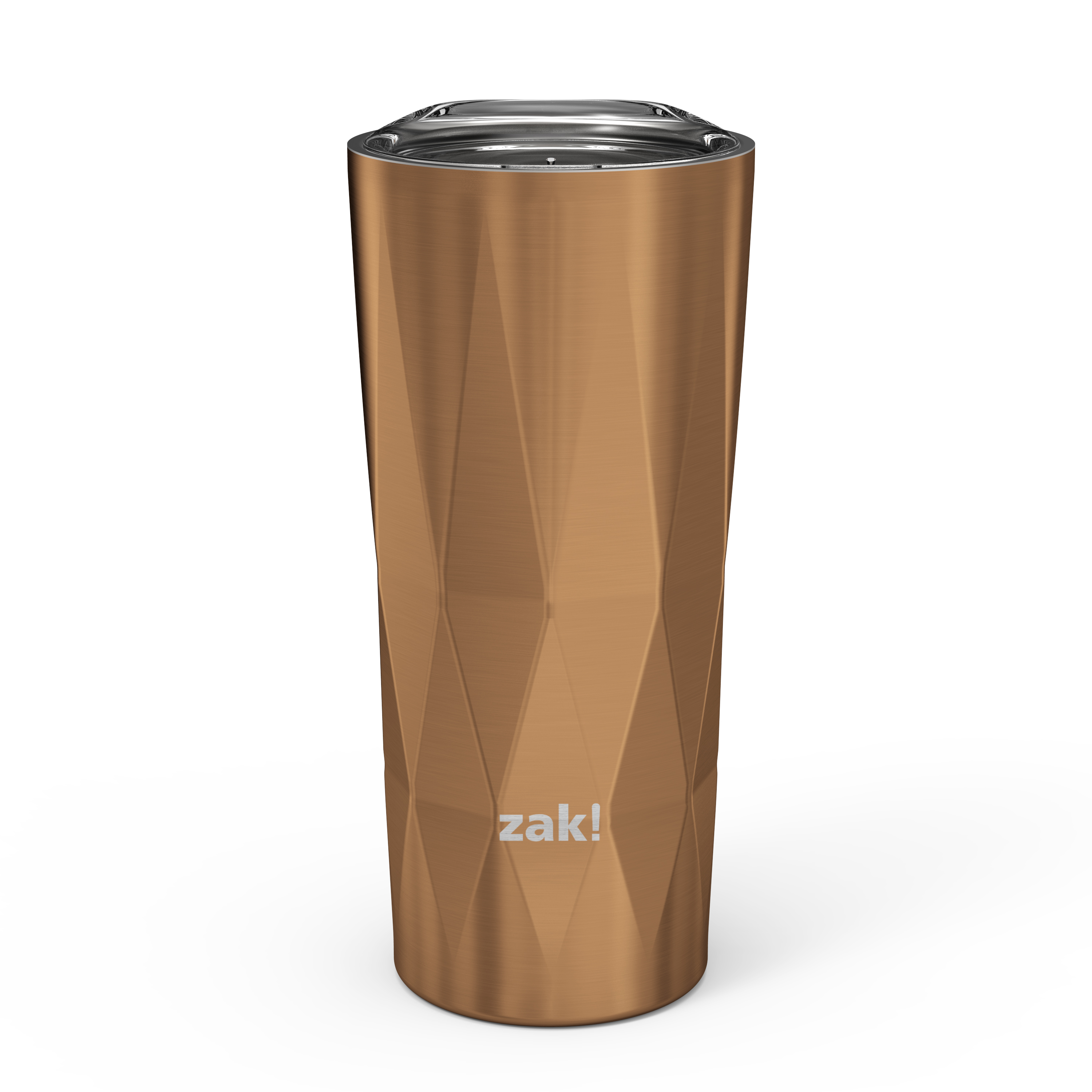 Fractal 16 ounce Vacuum Insulated Stainless Steel Tumbler, Copper slideshow image 1