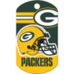 Green Bay Packers Chrome Large Military ID Quick-Tag