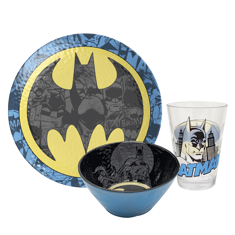 DC Comics Plate, Bowl and Tumbler Set, Batman, 3-piece set slideshow image 1