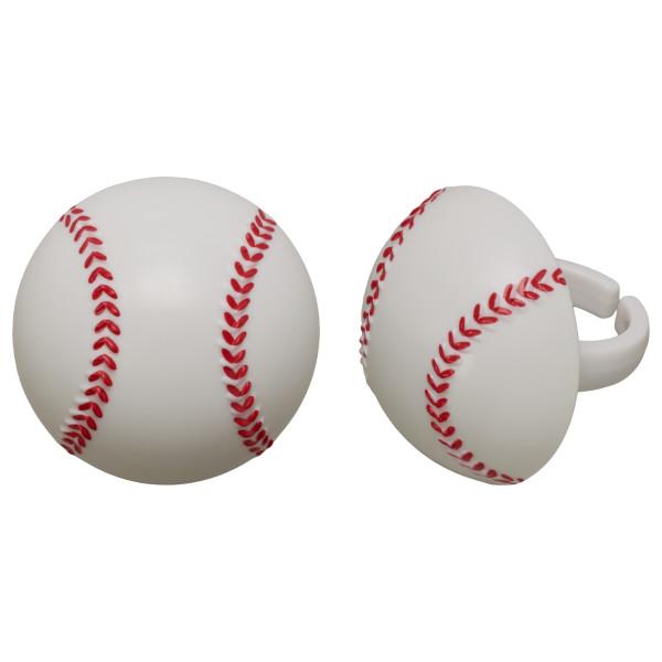 3D Baseball Cupcake Rings
