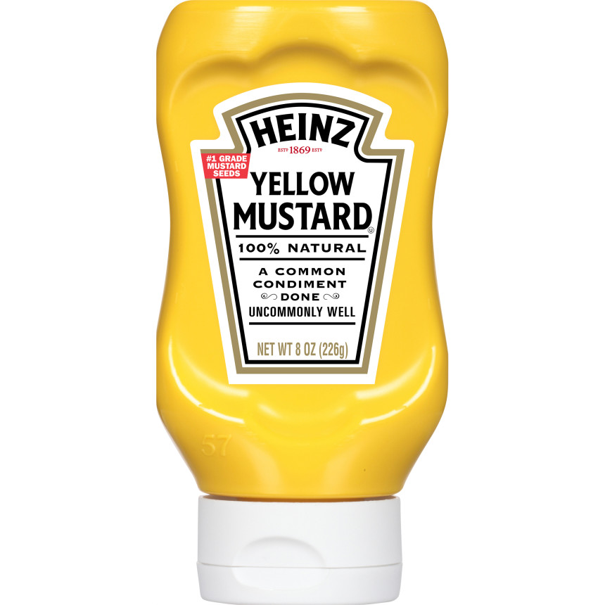 Heinz Yellow Mustard, 8 oz Bottle image