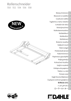 Dahle Professional Rotary Trimmers User Guide