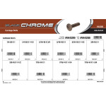Black Chrome Carriage Bolts Assortment