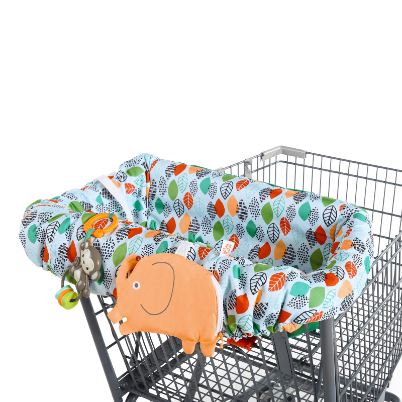 2-in-1 Ultra Cozy Cart Cover™ - Leaf Stamps