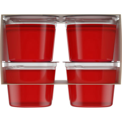 Jell-O Ready To Eat Strawberry Sugar Free Gelatin, 25 oz Sleeve (8 Cups)