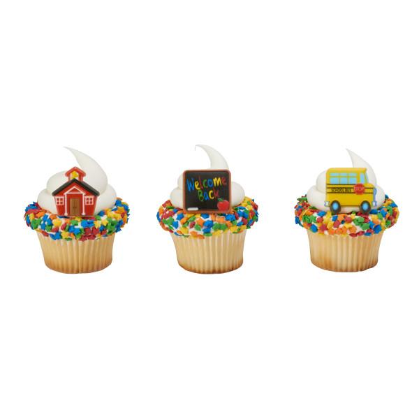 School Icons Cupcake Rings