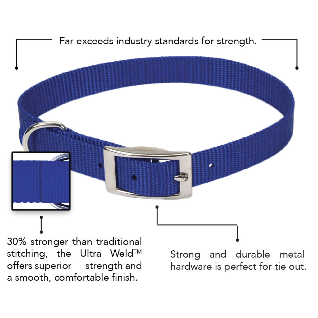 Coastal® Single-Ply Dog Collar