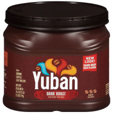 Yuban Dark Roast Ground Coffee, 25.3 oz Canister