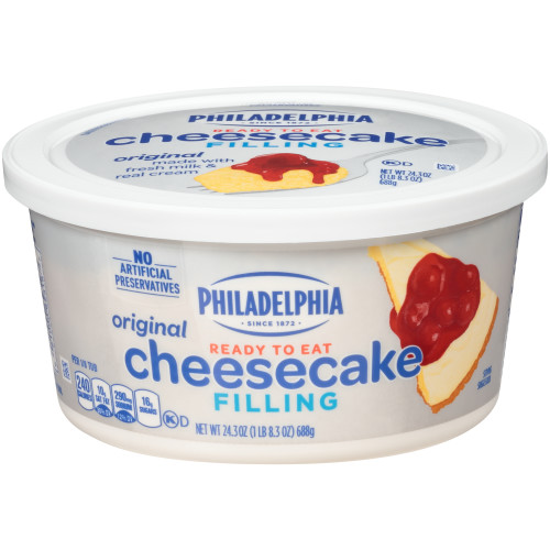 PHILADELPHIA Cheesecake Filling, 24.3 oz. (Pack of 6)