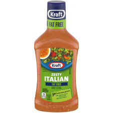 Kraft Zesty Italian Fat-Free Dressing, 16 fl oz Bottle