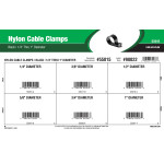 "Black Nylon Cable Clamps Assortment (1/4"" thru 1"" Diameter)"