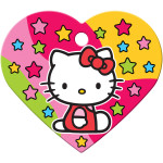 Hello Kitty Stars Large Heart Quick-Tag