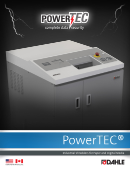 Dahle PowerTEC® Brochure