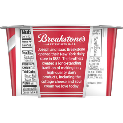 Breakstone's Cottage Doubles Blueberry Cottage Cheese 4.7 oz Cup