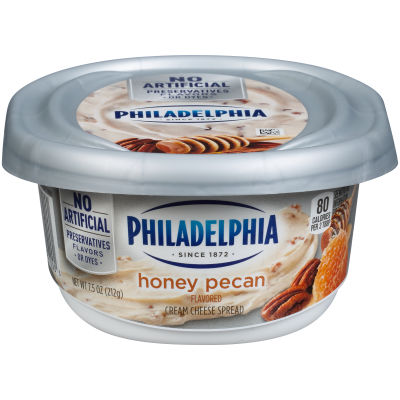Philadelphia Honey Nut Cream Cheese Spread 7.5 oz Tub