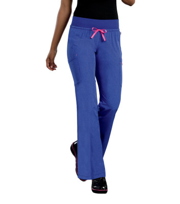 Smitten Miracle Scrub Pants for Women: 4 Pocket, Contemporary Slim Fit, Super Stretch, Elastic Waist, Medical Scrubs S201019-Smitten