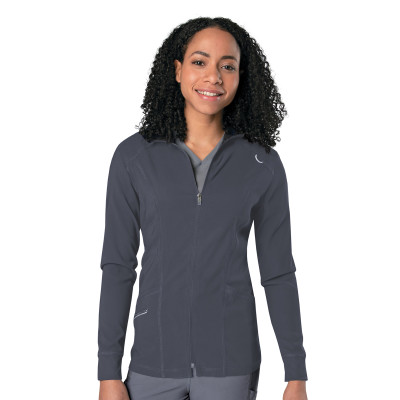 Urbane Align 3 Pocket Scrub Jacket for Women: Contemporary Slim Fit, Super Stretch Warm-up Medical Scrubs 9877-Urbane
