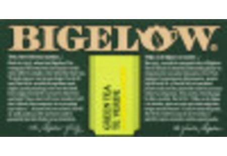 Front of Green Tea with Lemon Tea box bilingual packaging