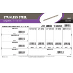 "Stainless Steel Hanger Bolts Assortment (1/4"", 5/16"", and 3/8"")"