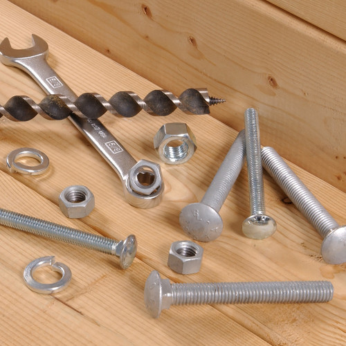 Hardware Essentials Zinc Plated Carriage Bolts/Nuts 1/4 x 1-3/4 in