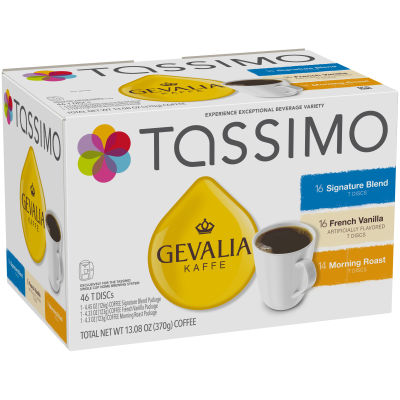 Gevalia Mixed Ground Coffee T-Disc for Tassimo Brewing System, 46 count, Pack of 5