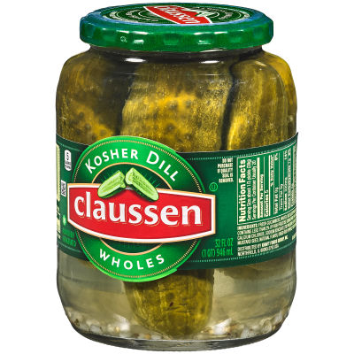 Claussen Kosher Dill Whole Pickles 32 fl oz Jar