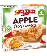 of a 12.5-ounce package Pepperidge Farm® Frozen Apple Turnovers Pastries(2 turnovers)