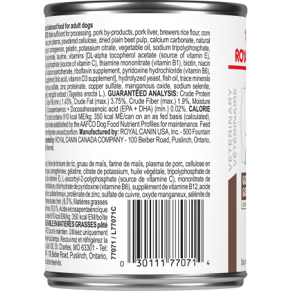 Royal Canin Veterinary Diet Canine Gastrointestinal Low Fat Canned Dog Food