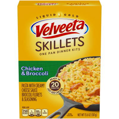 Velveeta Cheesy Skillets Chicken & Broccoli Dinner Kit 13.6 oz Box