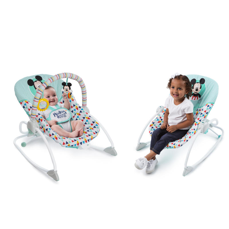 MICKEY MOUSE Happy Triangles Infant to Toddler Rocker™