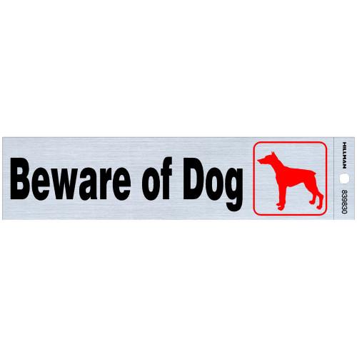 Adhesive Beware of Dog Sign (2