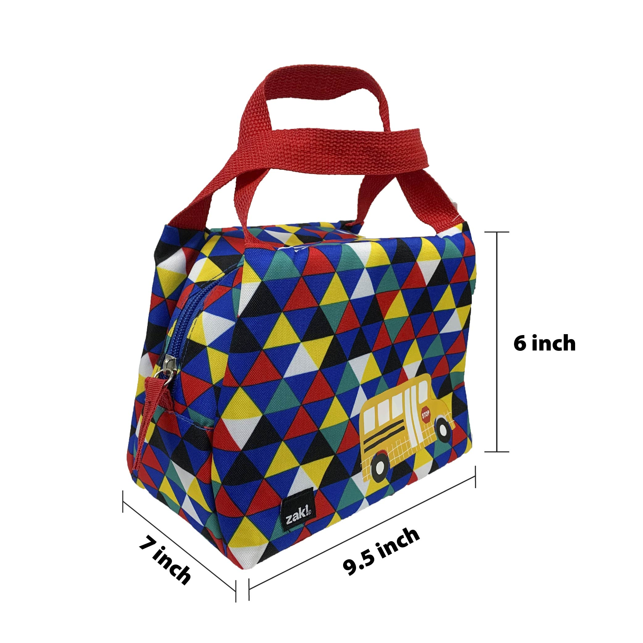 Grid Lock Purse Style Insulated Reusable Lunch Bag, Buses slideshow image 4