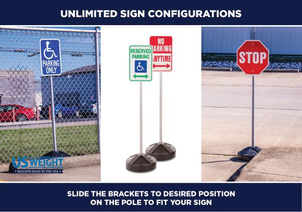 Sign Post Kit - Prefilled Base 3